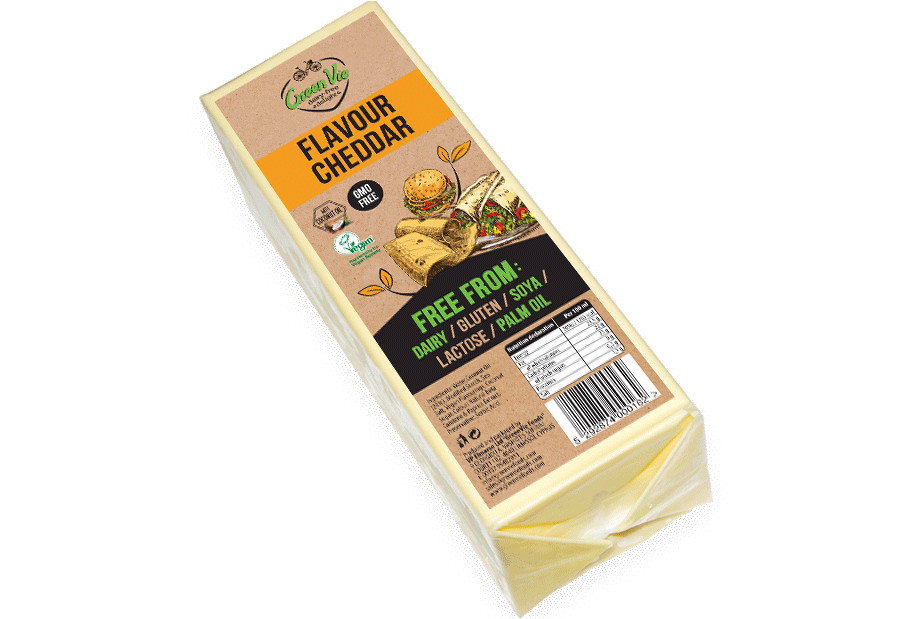 Vegan Cheese Dairy-Free Cheddar flavour cheese package 2.5kg