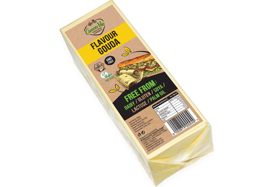Vegan Cheese Dairy-Free Gouda flavour cheese package 2.5kg