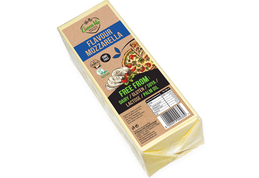 Vegan Cheese Dairy-Free Mozzarella flavour cheese package 2.5kg