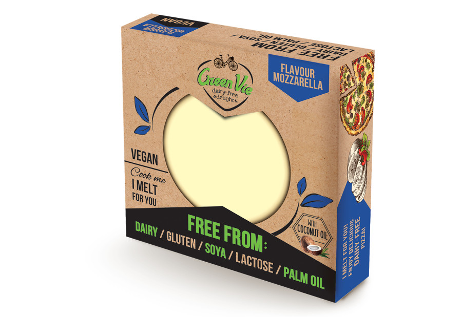 Vegan Dairy-Free Mozzarella cheese package block 250g