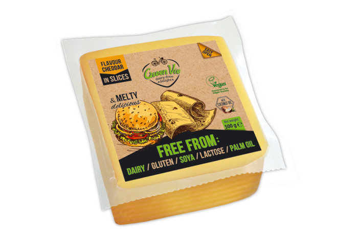 Vegan Dairy-Free Cheddar Cheese Slices 500g Foodservice