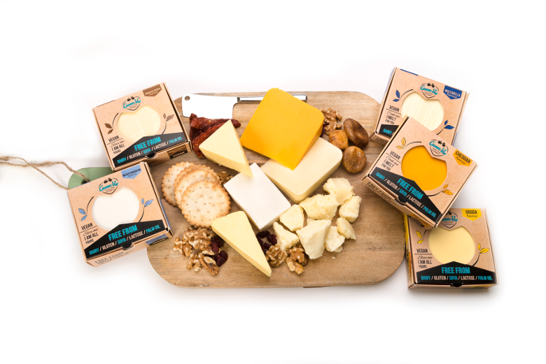 Vegan Dairy-free Plant Based Diet Wine Board with mixed flavour Cheeses