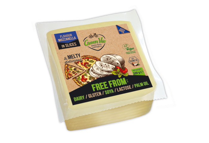 Vegan Dairy-Free Gouda Cheese Slices 500g Foodservice