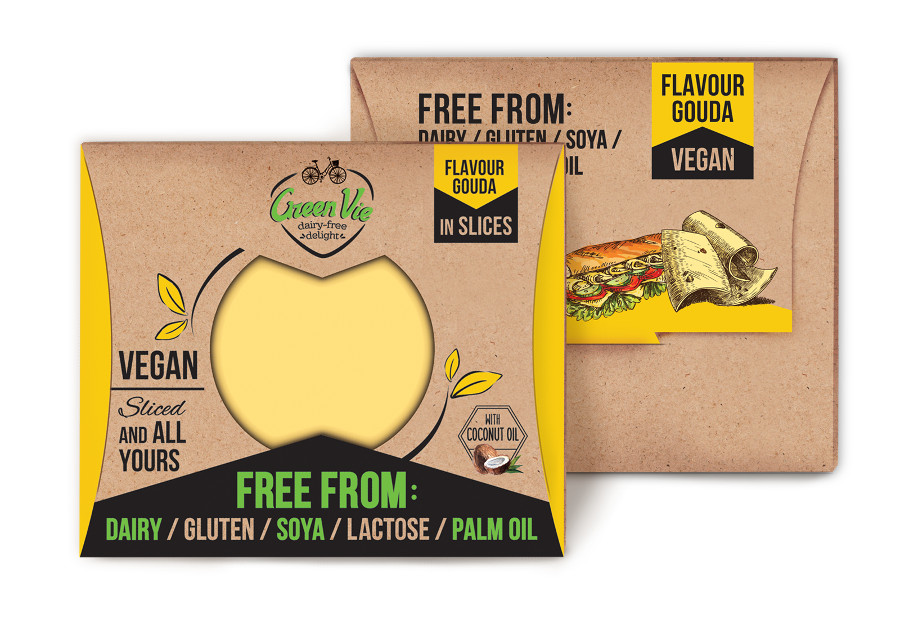 Vegan Dairy-Free Gouda flavour cheese package slices 100g and 200g