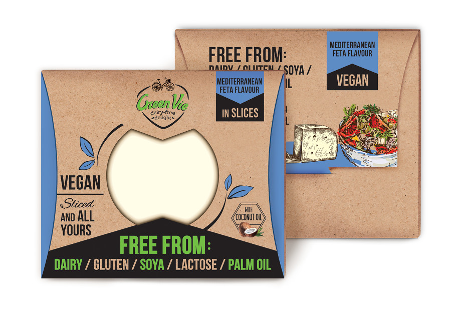 Vegan Dairy-Free Mediterranean Feta cheese flavour package slices 100g and 200g