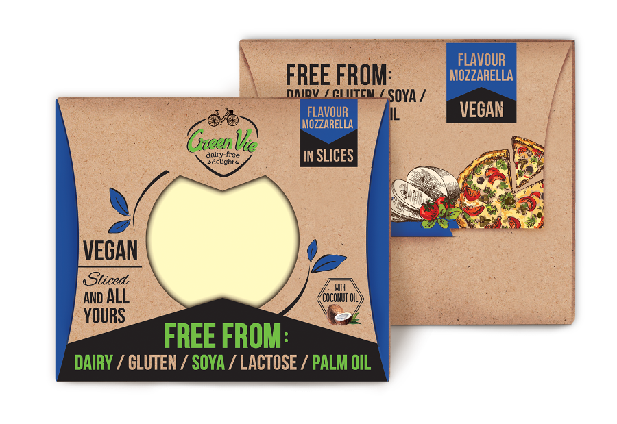 Vegan Dairy-Free Mozzarella cheese flavour package slices 100g and 200g