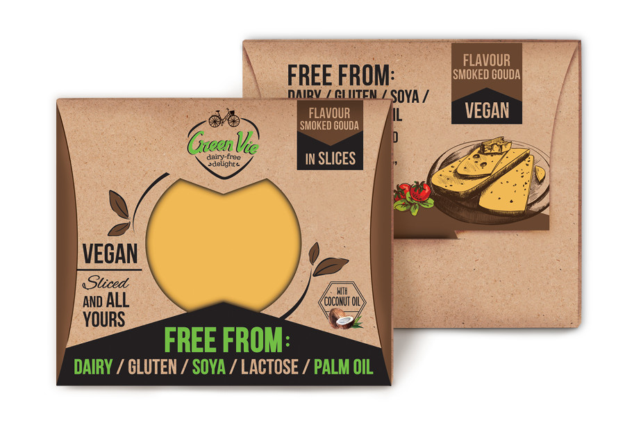 Vegan Dairy-Free Smoked Gouda cheese flavour package slices 100g and 200g